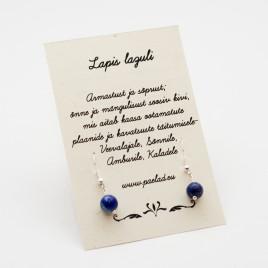 Kõrvarõngad Lapis Lazuliga (Lasuriidiga) – tervendus, rahu ja jõud